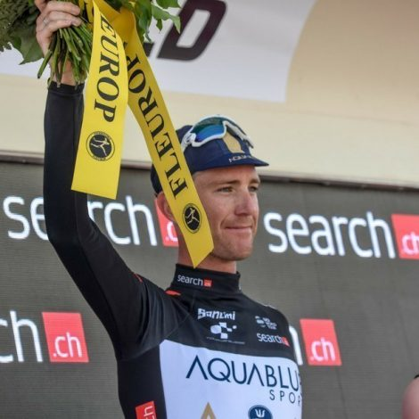Podium for Aqua Blue Sport's Calvin in Tour de Suisse
