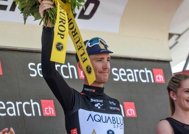 Podium for Aqua Blue Sport's Calvin in Tour de Suisse